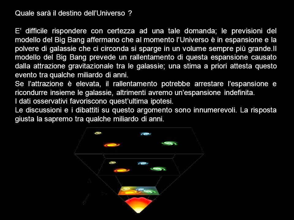 Quale sarà il destino dell'Universo