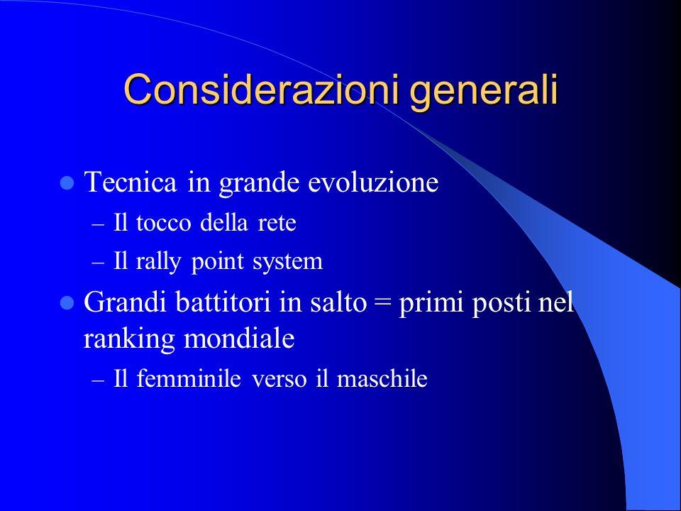 Considerazioni generali