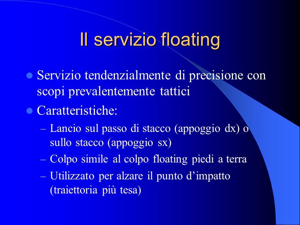 Il servizio floating Servizio tendenzialmente di precisione con scopi prevalentemente tattici. Caratteristiche: