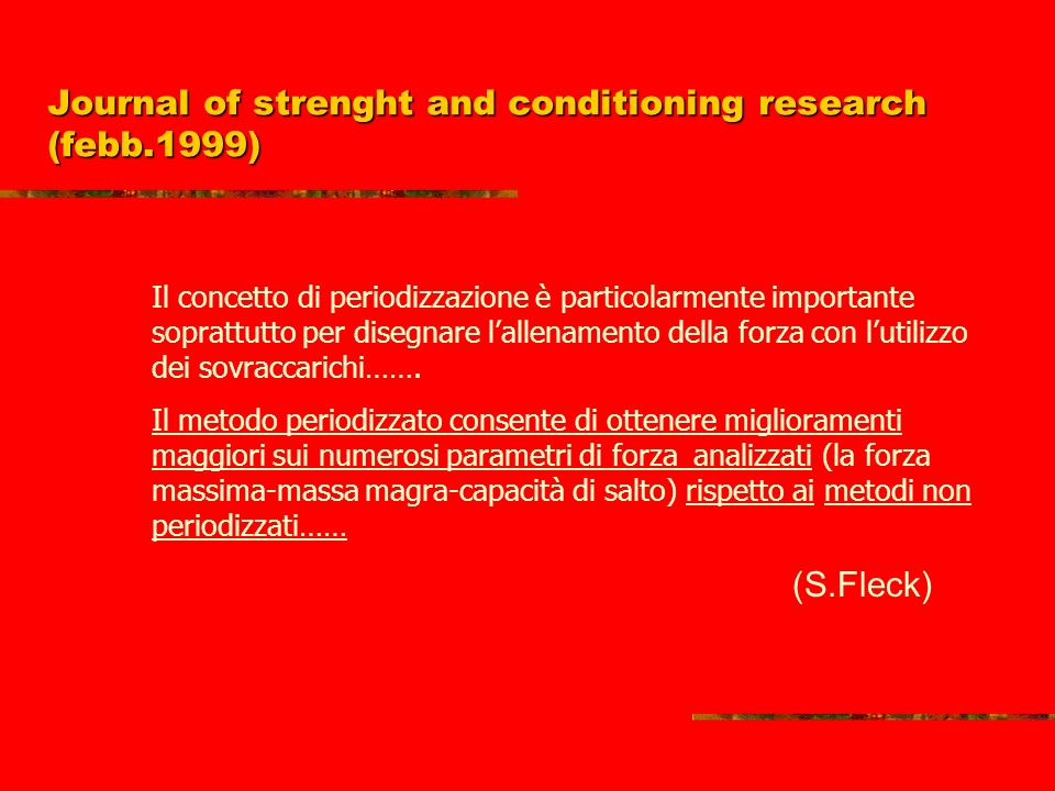 Journal of strenght and conditioning research (febb.1999)