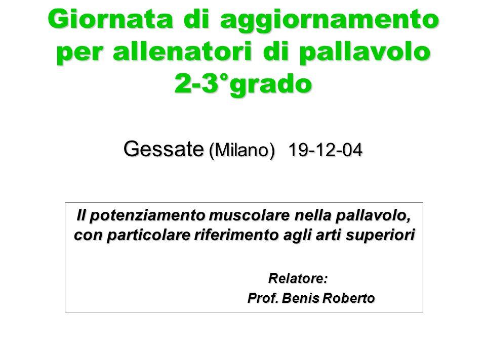Giornata di aggiornamento per allenatori di pallavolo 2-3°grado Gessate (Milano) 19-12-04