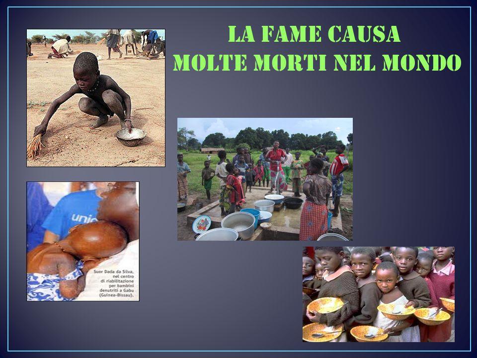 La fame causa molte morti nel mondo
