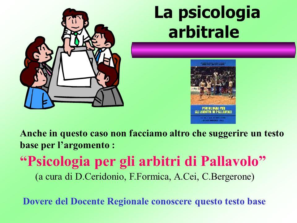 La psicologia arbitrale Psicologia per gli arbitri di Pallavolo