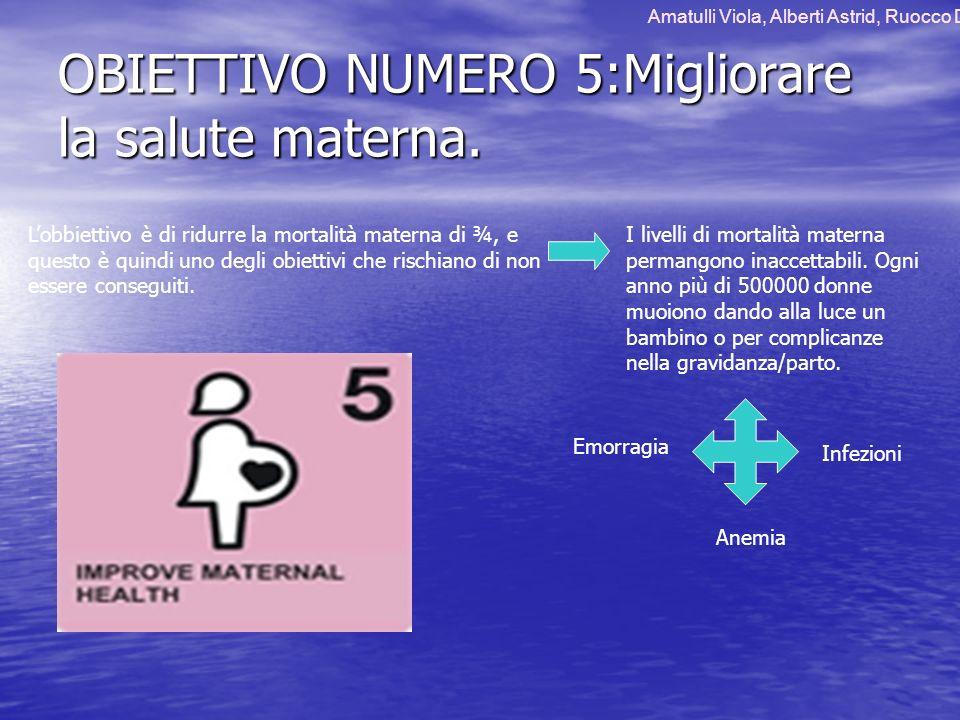OBIETTIVO NUMERO 5:Migliorare la salute materna.