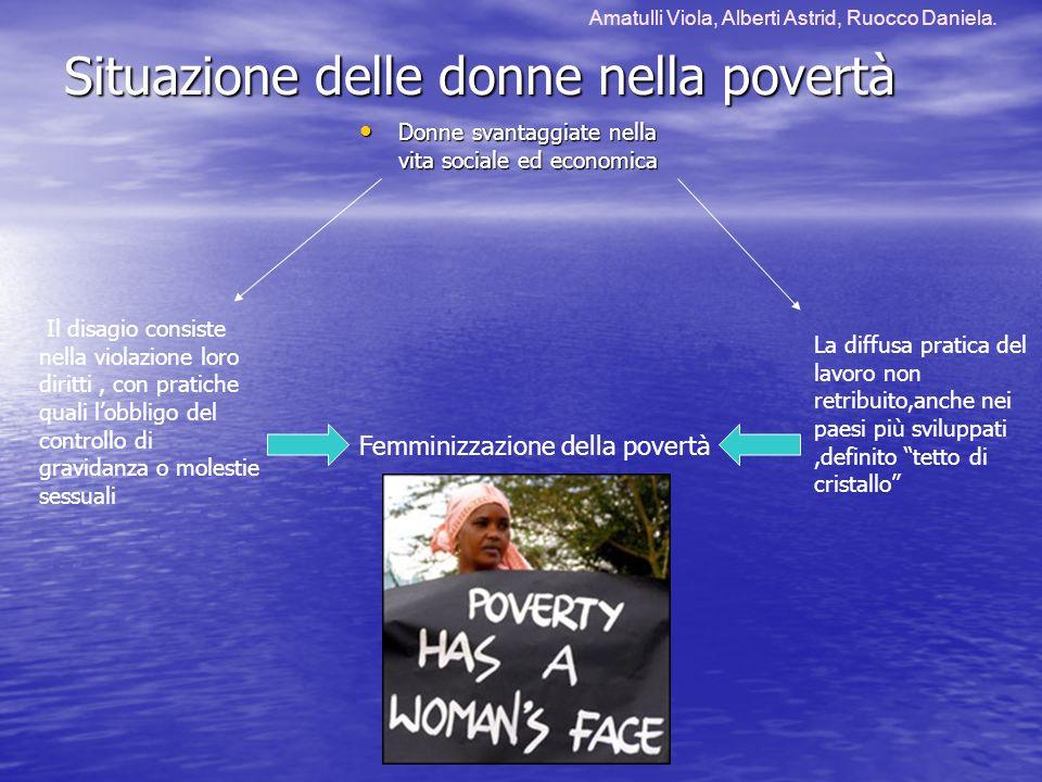 Situazione delle donne nella povertà
