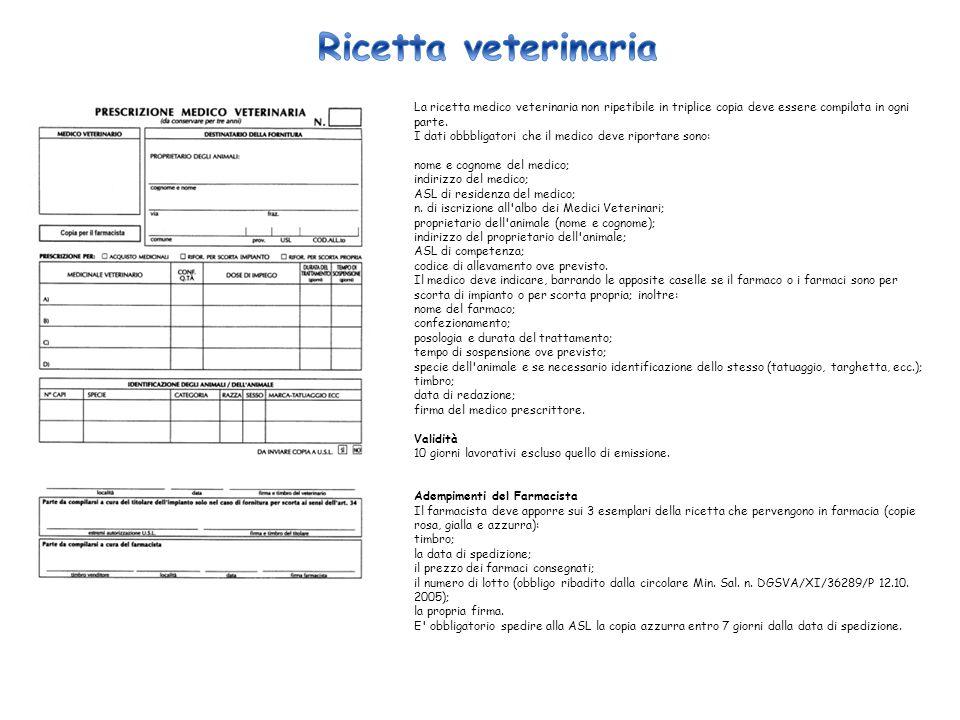 Ricetta veterinaria