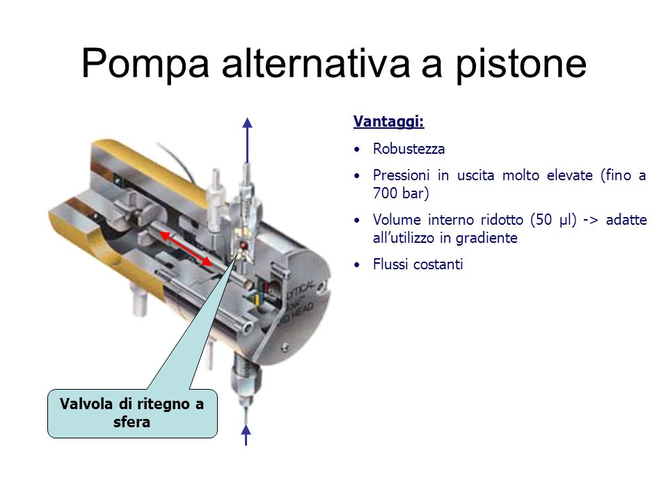 Pompa alternativa a pistone