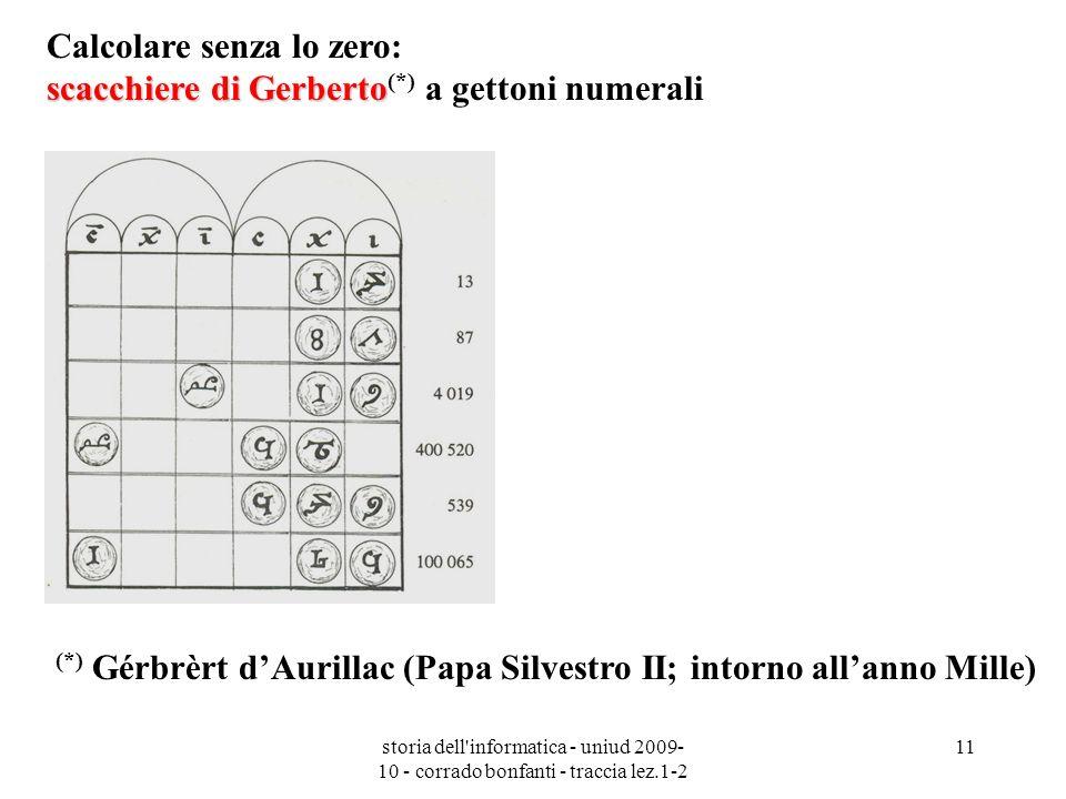 Calcolare senza lo zero: scacchiere di Gerberto(*) a gettoni numerali
