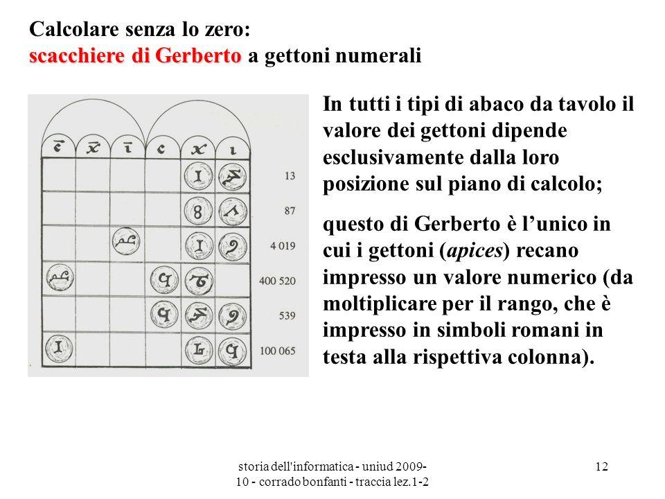 Calcolare senza lo zero: scacchiere di Gerberto a gettoni numerali