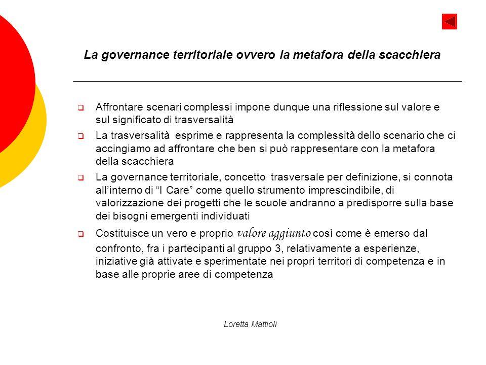 La governance territoriale ovvero la metafora della scacchiera