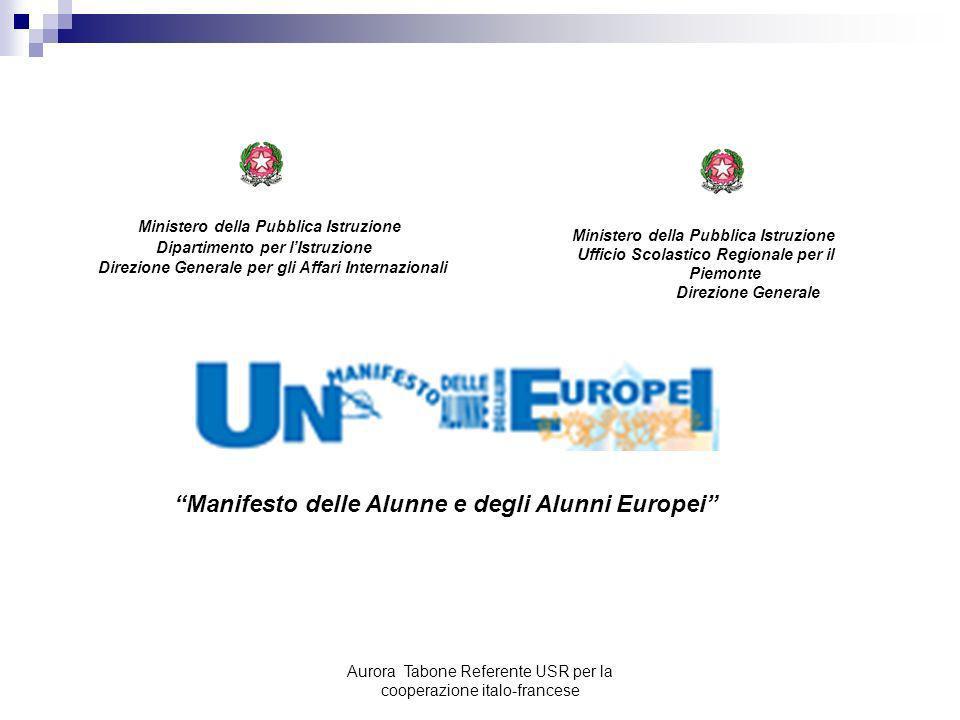 Manifesto delle Alunne e degli Alunni Europei
