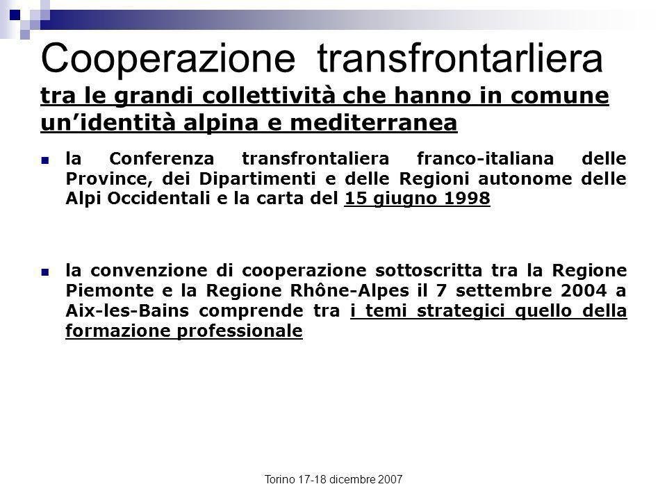 Cooperazione transfrontarliera tra le grandi collettività che hanno in comune un'identità alpina e mediterranea