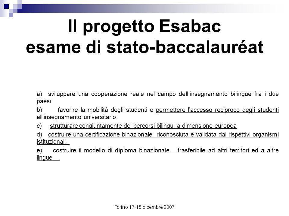 Il progetto Esabac esame di stato-baccalauréat