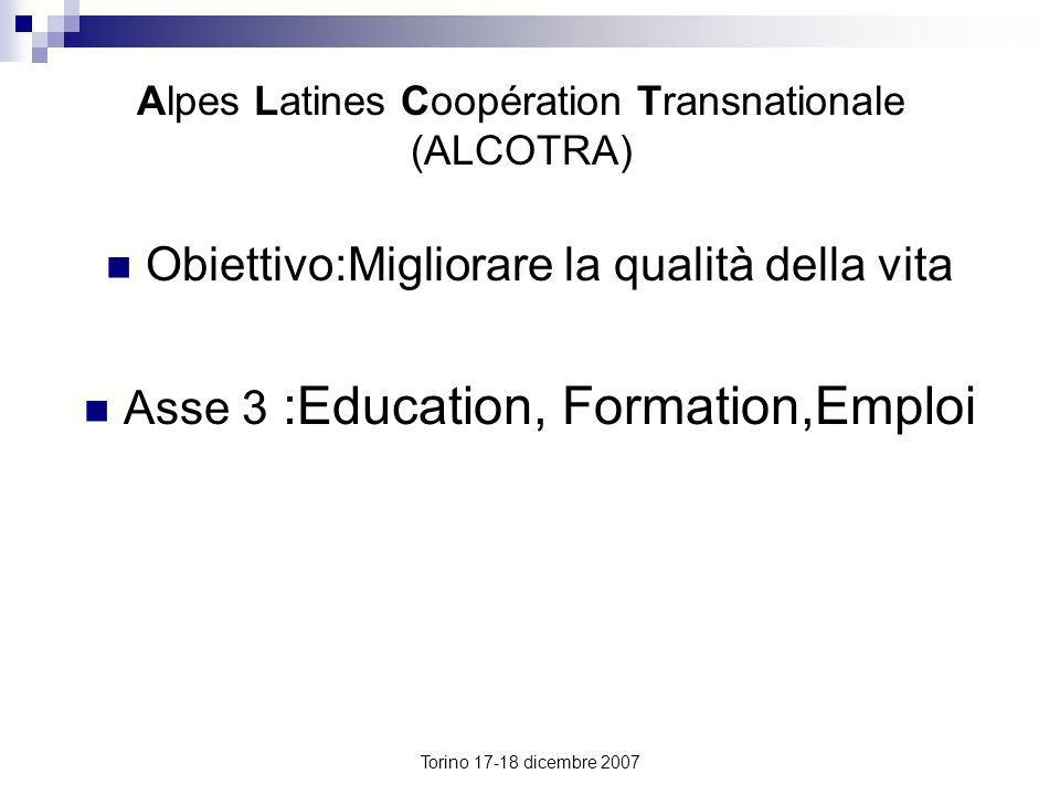 Alpes Latines Coopération Transnationale (ALCOTRA)