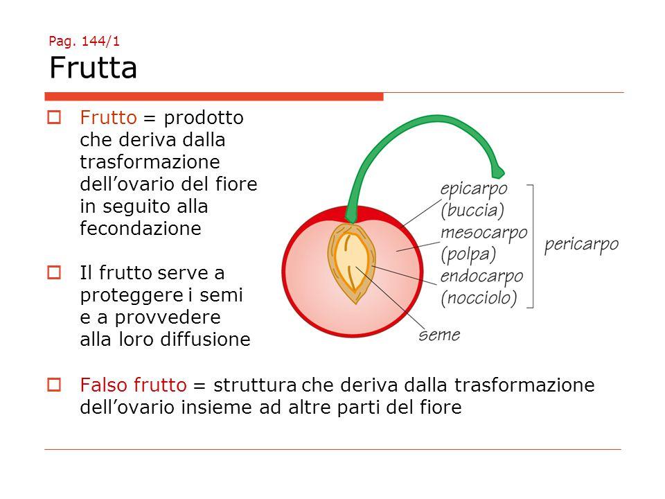 che deriva dalla trasformazione dell'ovario del fiore