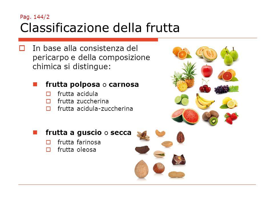 Pag. 144/2 Classificazione della frutta