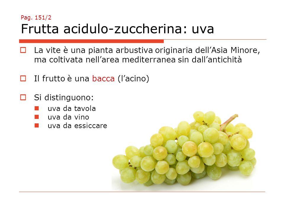 Pag. 151/2 Frutta acidulo-zuccherina: uva