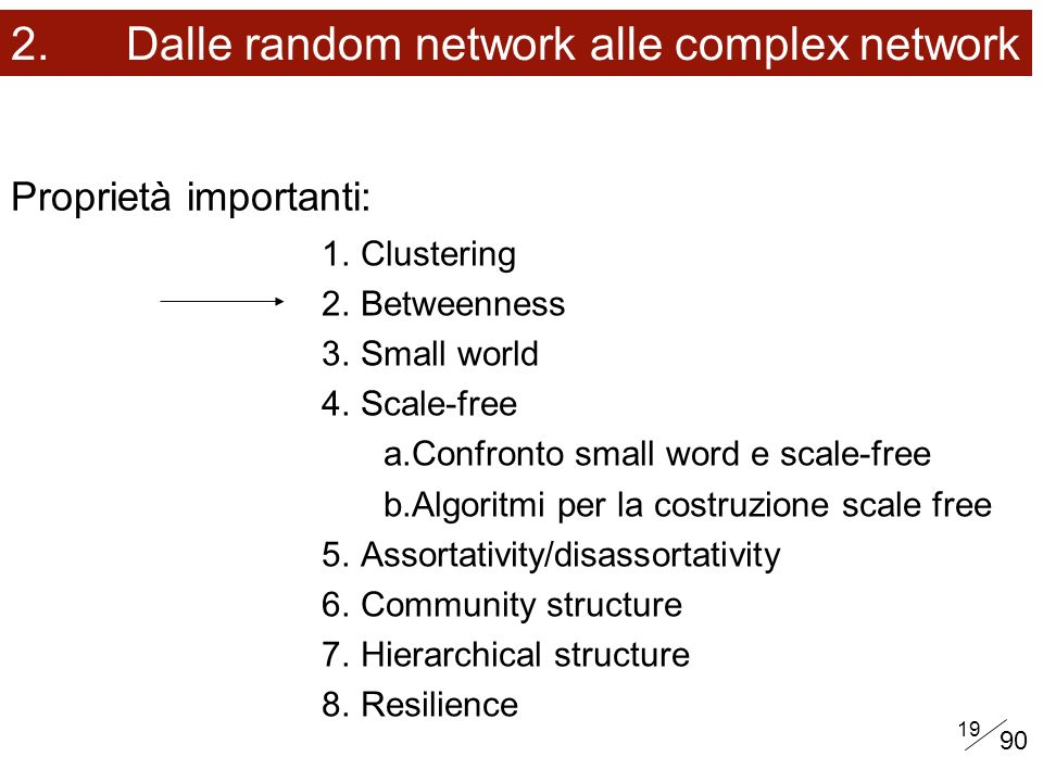 2. Dalle random network alle complex network