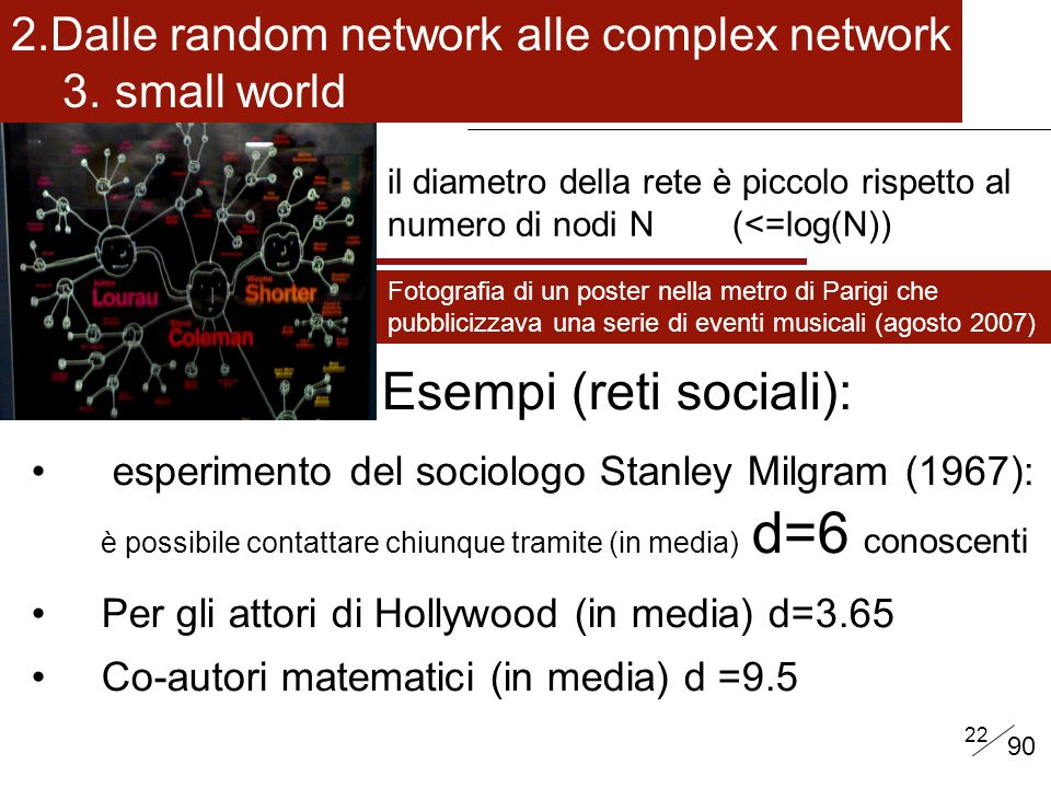 Esempi (reti sociali):