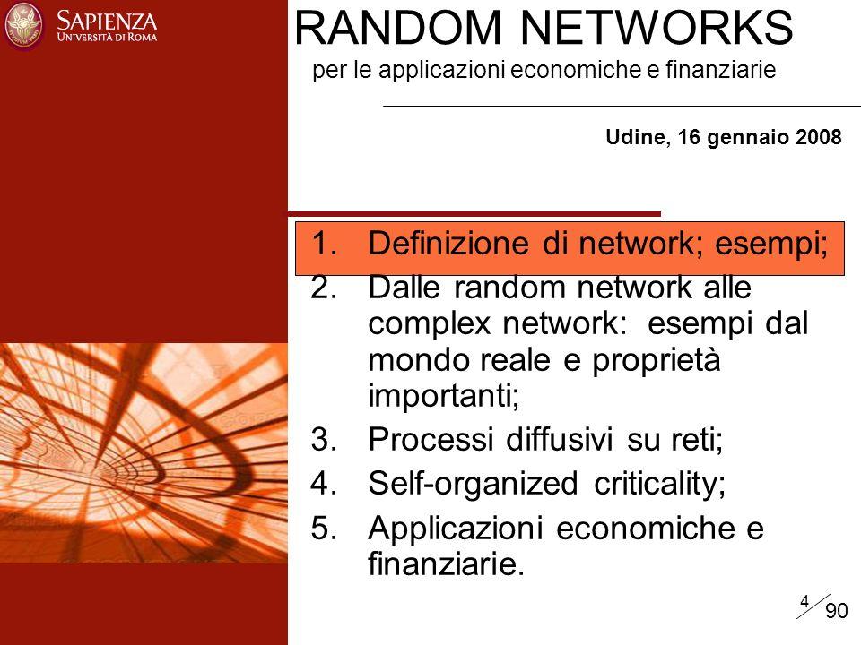 RANDOM NETWORKS per le applicazioni economiche e finanziarie