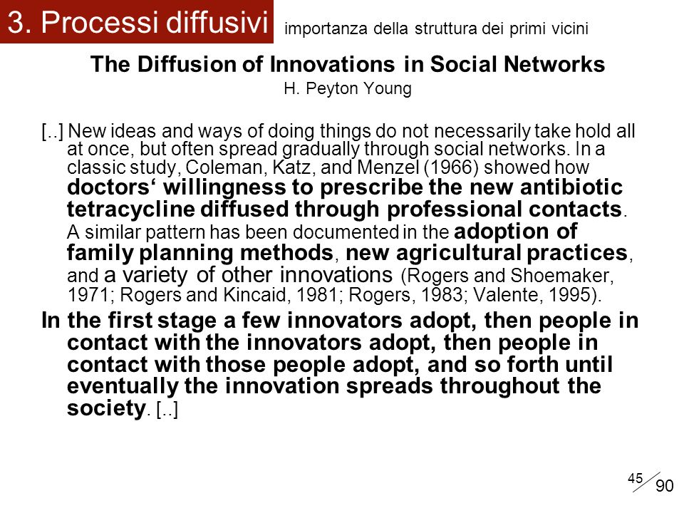 The Diffusion of Innovations in Social Networks H. Peyton Young