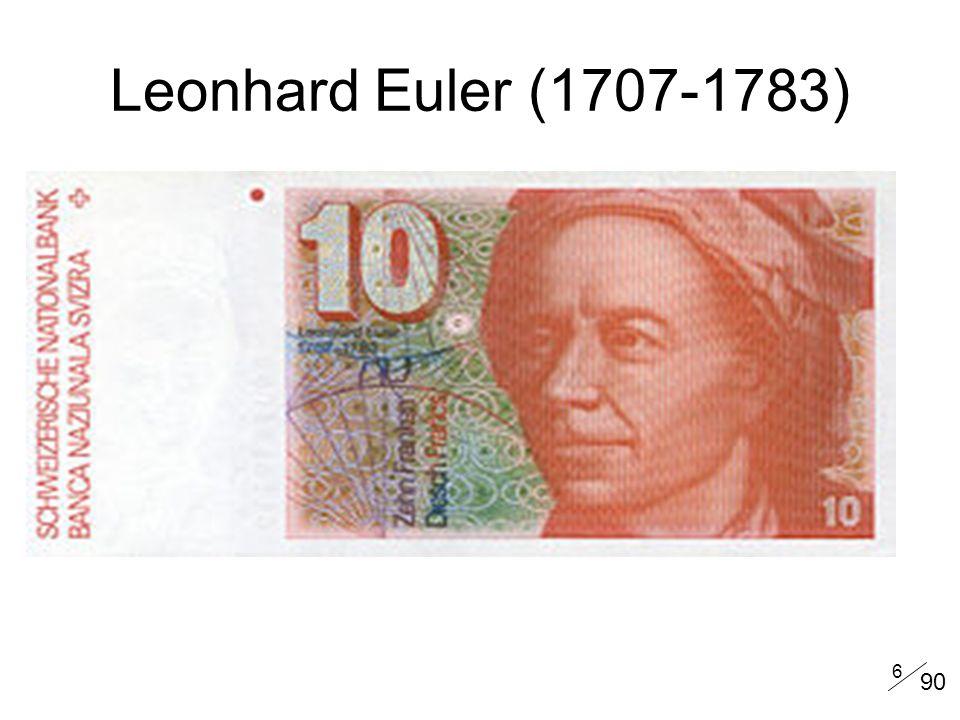 Leonhard Euler (1707-1783) 90