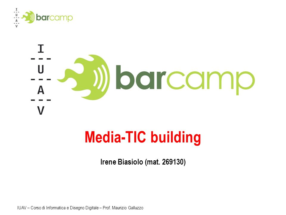 Media-TIC building Irene Biasiolo (mat. 269130)