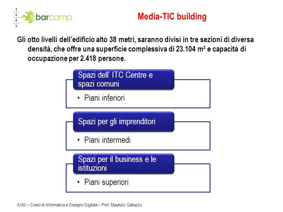 Media-TIC building Spazi dell' ITC Centre e spazi comuni