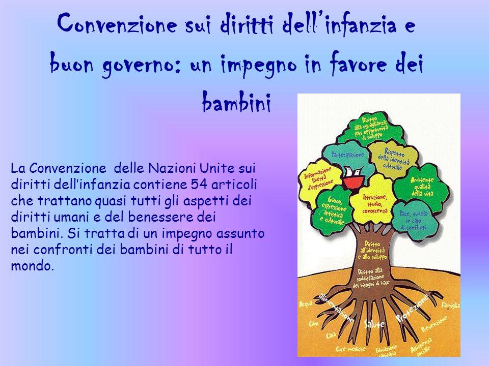 Convenzione sui diritti dell'infanzia e buon governo: un impegno in favore dei bambini