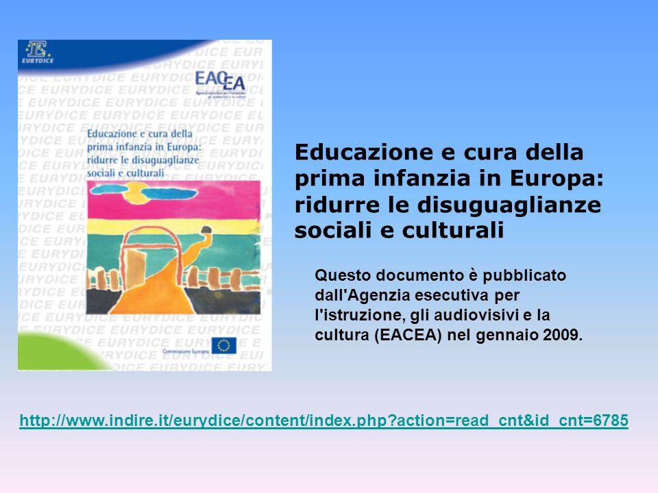 Educazione e cura della prima infanzia in Europa: ridurre le disuguaglianze sociali e culturali
