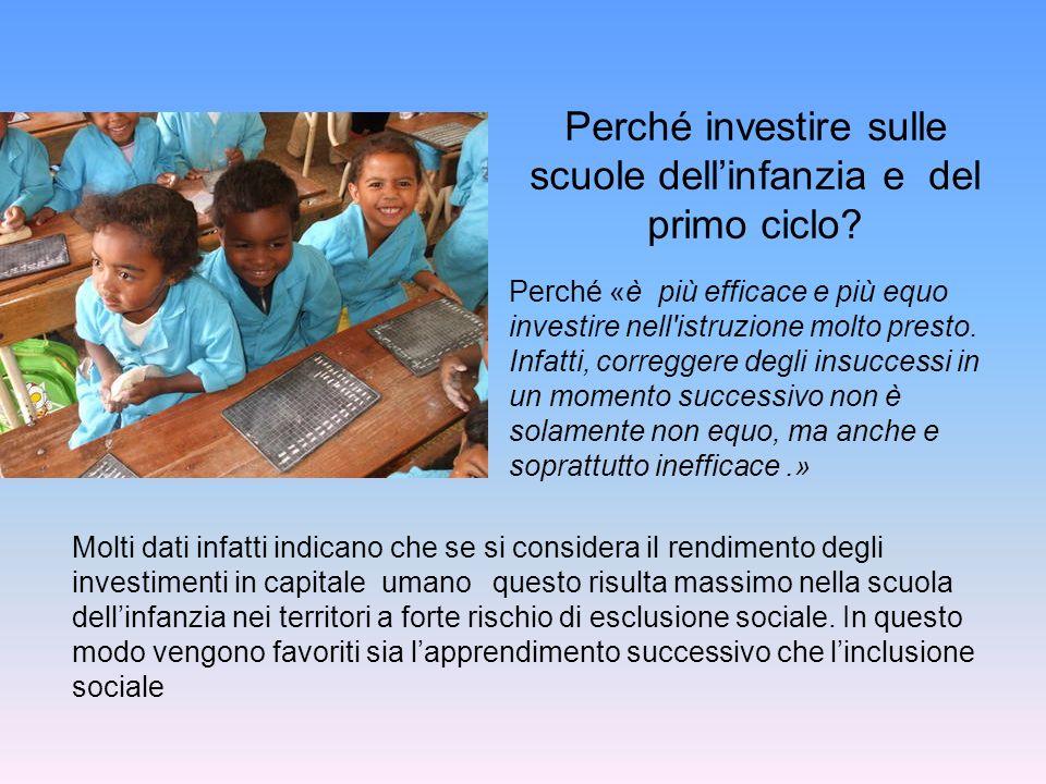 Perché investire sulle scuole dell'infanzia e del primo ciclo