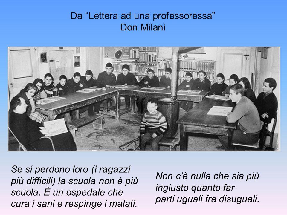 Da Lettera ad una professoressa