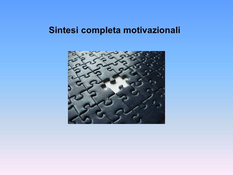Sintesi completa motivazionali