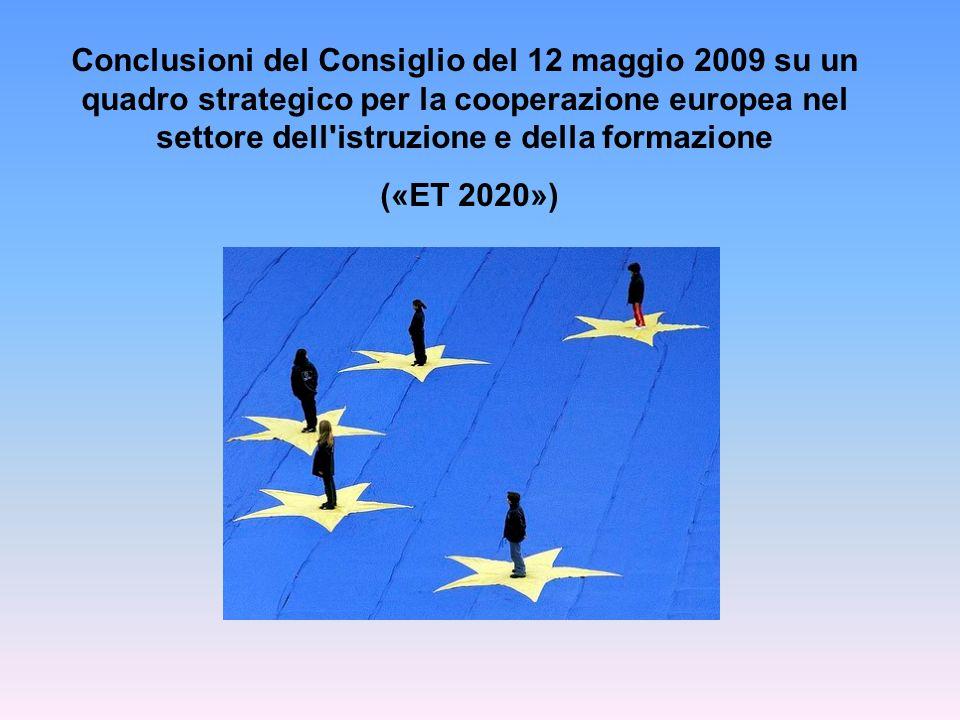 Conclusioni del Consiglio del 12 maggio 2009 su un quadro strategico per la cooperazione europea nel settore dell istruzione e della formazione