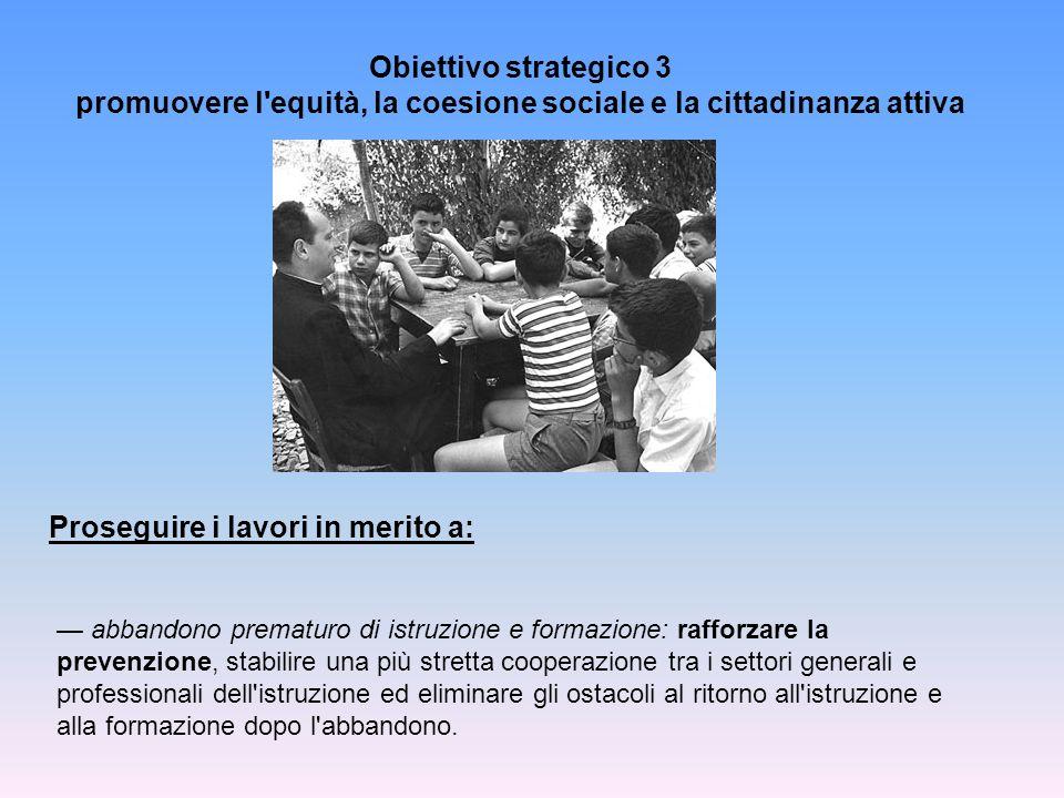 promuovere l equità, la coesione sociale e la cittadinanza attiva