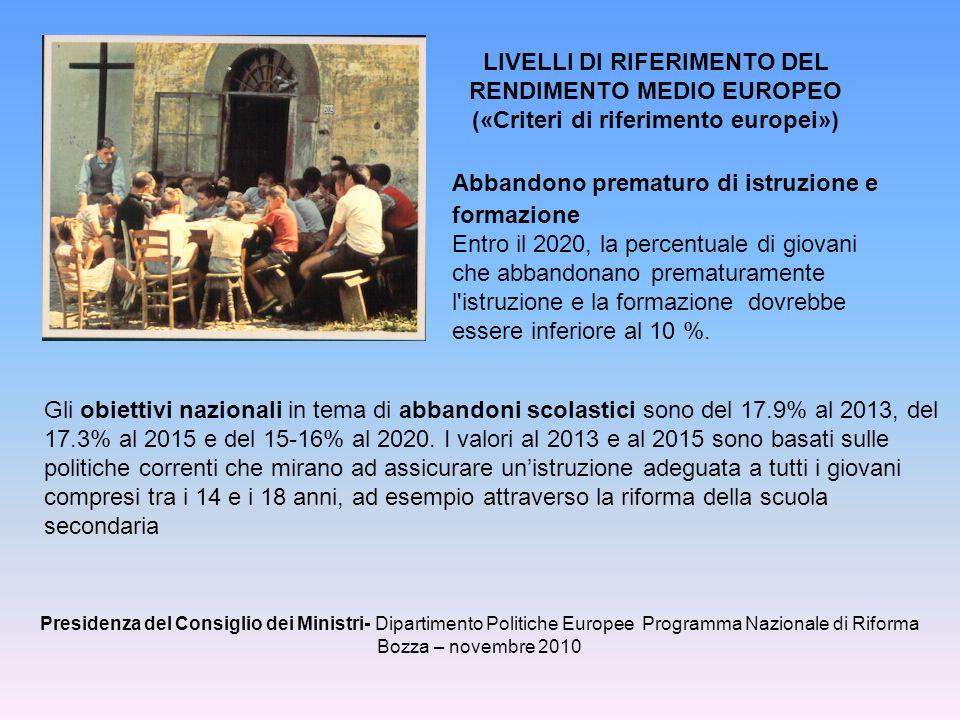 («Criteri di riferimento europei»)