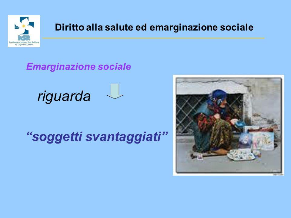 Diritto alla salute ed emarginazione sociale