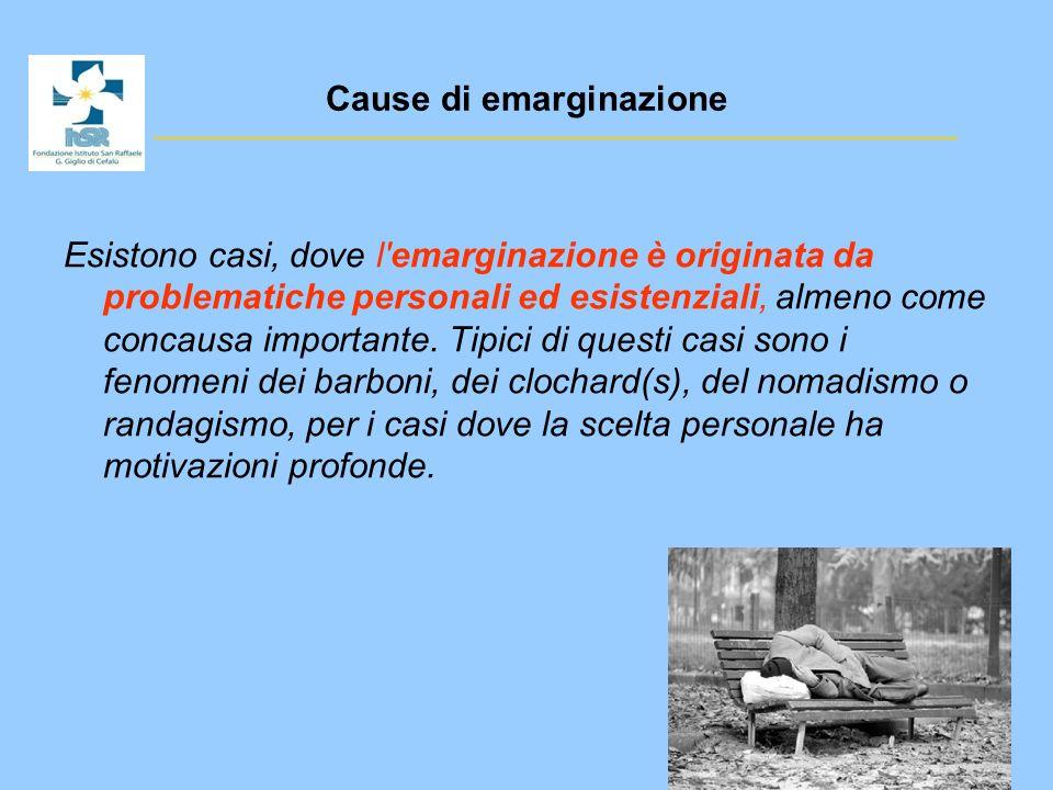 Cause di emarginazione