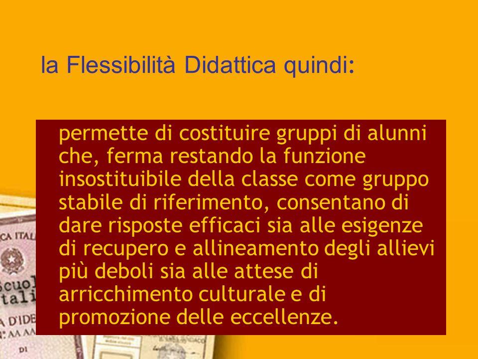 la Flessibilità Didattica quindi: