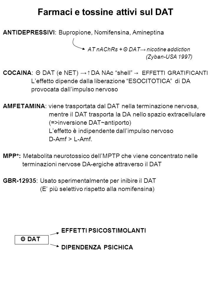 Farmaci e tossine attivi sul DAT