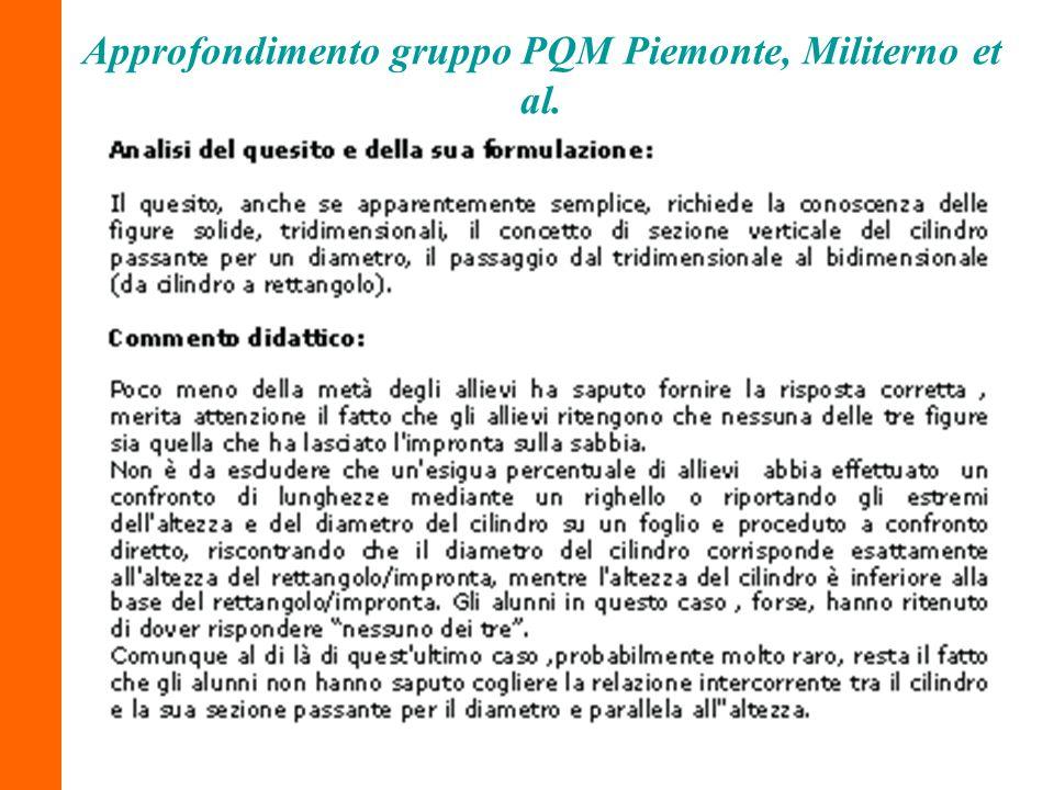 Approfondimento gruppo PQM Piemonte, Militerno et al.