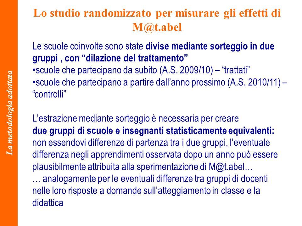Lo studio randomizzato per misurare gli effetti di M@t.abel