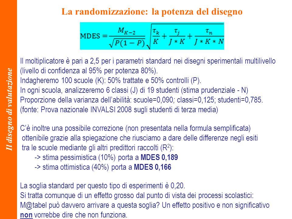 La randomizzazione: la potenza del disegno Il disegno di valutazione