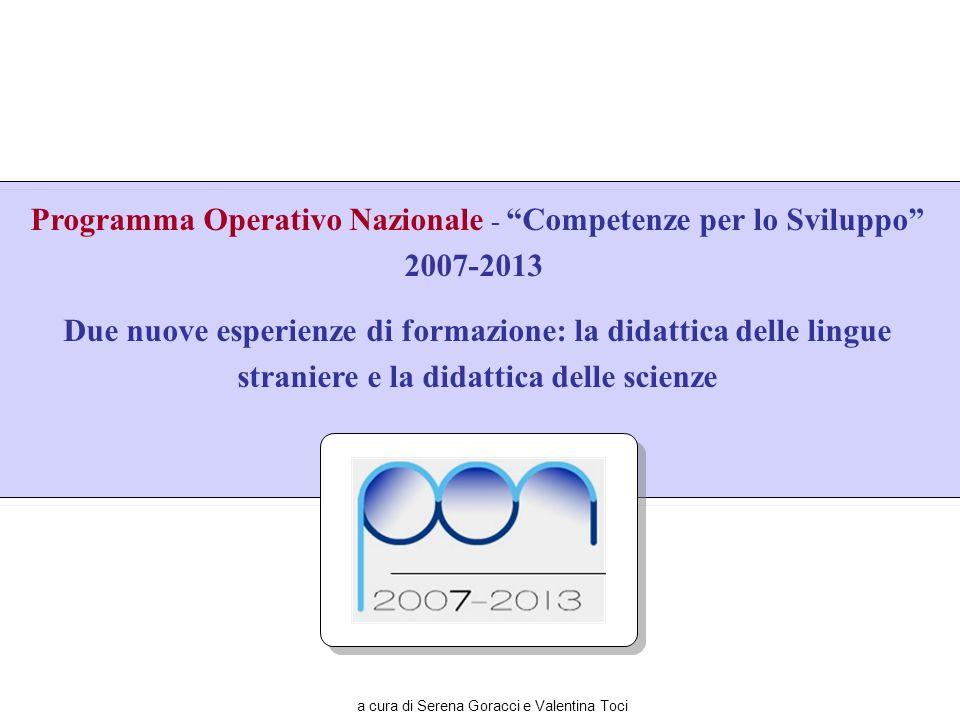 Programma Operativo Nazionale - Competenze per lo Sviluppo 2007-2013