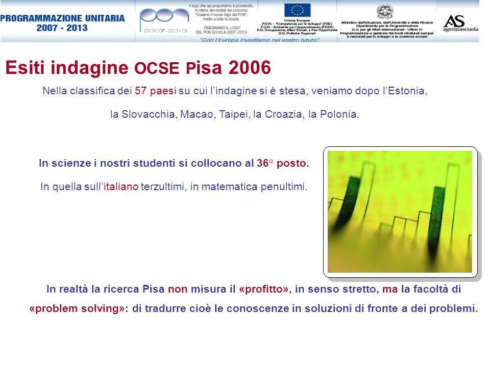 Esiti indagine OCSE Pisa 2006