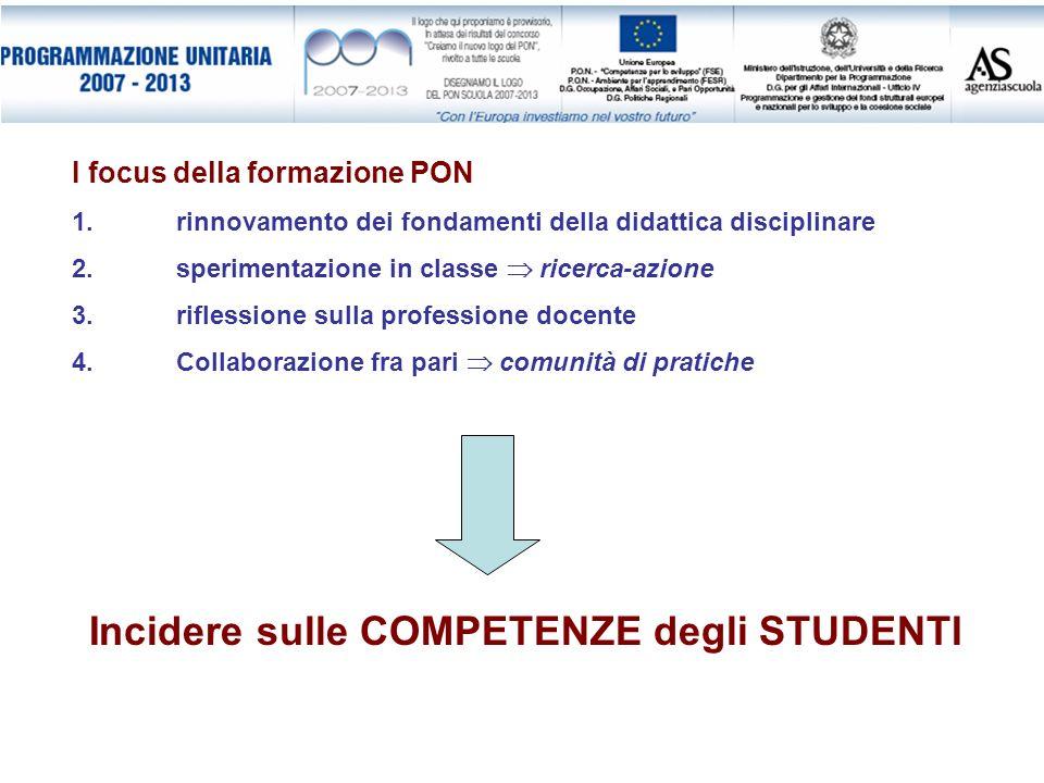 Incidere sulle COMPETENZE degli STUDENTI