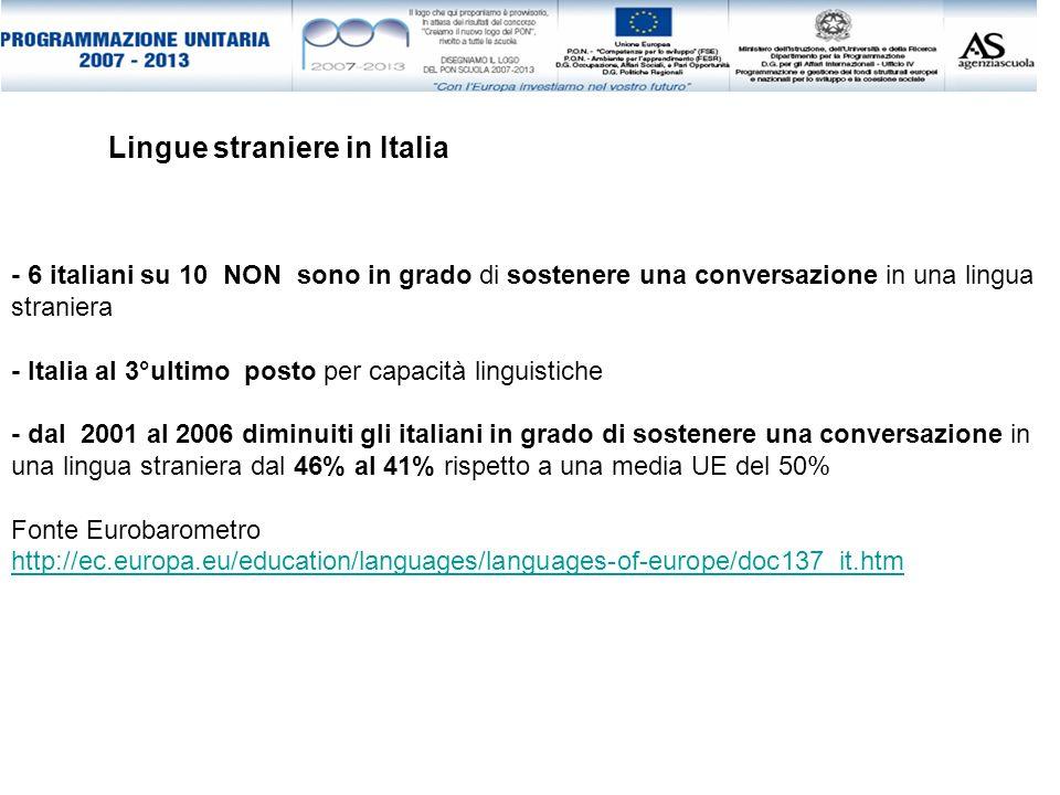 Lingue straniere in Italia