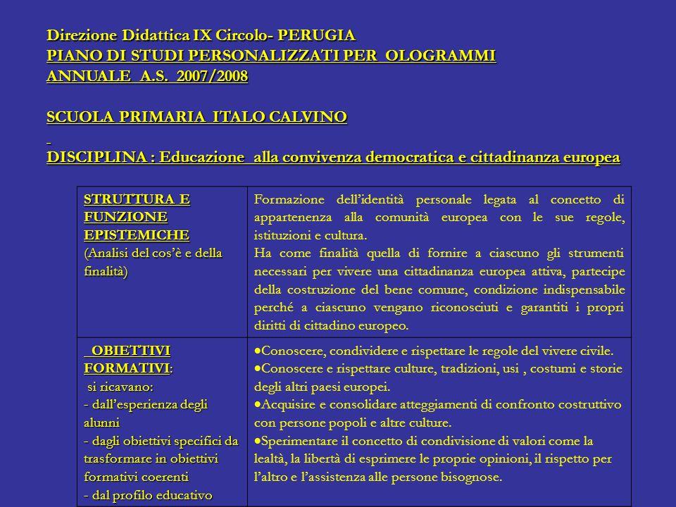 Direzione Didattica IX Circolo- PERUGIA