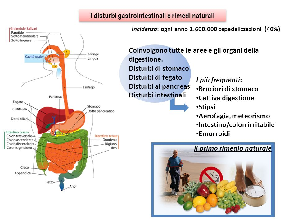 I disturbi gastrointestinali e rimedi naturali