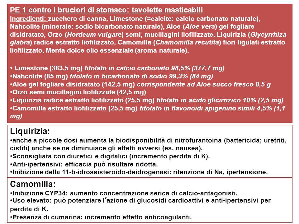 Liquirizia: Camomilla: